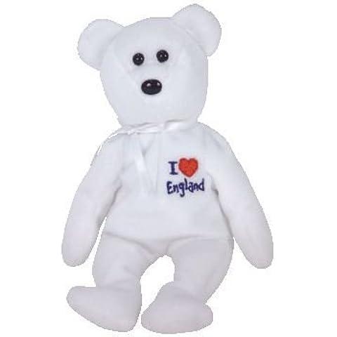 TY BEANIE BEAR - I LOVE ENGLAND - by Ty Beanie Babies