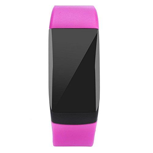 Pulsera Inteligente, UP08 Impermeable Fitness Tracker Pulsera Inteligente Deportiva Actividad Monitor de Pulso Cardiaco de Podómetro de Monitor de Sueño Contador de Pasos Reloj Bluetooth(Púrpura)