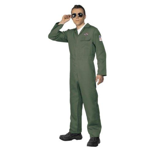 Karneval Herren Kostüm Army Soldat Pilot Luftwaffe 2.Weltkrieg (2 Weltkrieg Kostüm Pilot)