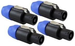 SLB Works Speaker Plug Twist Lock 4 Pole Speaker Plug Compatible with Neutrik Speakon F1W9