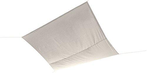 Ideanature Toile d'ombrage carré Blanc 36 x 22 x 6 cm 199060