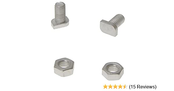 Rust Free 20 Elite Greenhouse Aluminium 11mm long Cropped Head Bolts /& Nuts