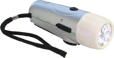 Ventus VIP7315 Eco Windup Mini Torch - Black/Silver