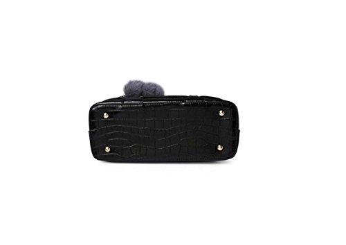 Sacchetto di spalla di modo del sacchetto di spalla di modo della borsa di stile delle signore e peluche e fogli di peluche sei colori Materiale opzionale dell'unità di elaborazione Red