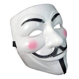 Ultra ® 2 x Fancy Dress Erwachsene PVC hochwertige Profi-Maske mit Eslasticated Guy Fawkes Gesicht Maske Fancy Halloween erhältlich in 1-2-5 und 10 Multip-Packs Costumeplay von