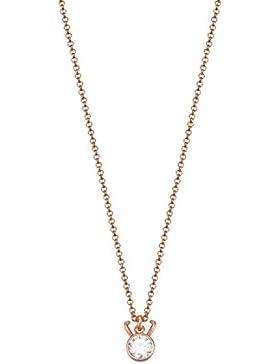 ESPRIT Zodiac Damen-Kette mit Anhänger ES-CAPRICORN Sternzeichen teilvergoldet Zirkonia transparent - ESNL03225C420