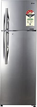 LG 335 L 4 Star Frost Free Double Door Refrigerator(GL-R372JPZN, Shiny Steel, Inverter Compressor)