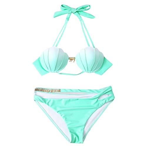 Lyguy Bikini-Set, Bikini-Badebekleidungs-Set für Damen Gut aussehender Badeanzug von Shell Beachwear, zweiteilig, Badeanzug-Set L