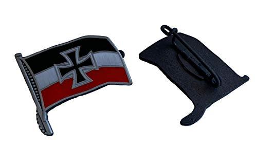 Reichsflagge mit Eisernes Kreuz Pin | Deutsches Reich Kaiserreich schwarz, weiß, rot Reichkriegsflagge WW2