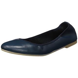 Tamaris Damen 22128 Geschlossene Ballerinas, Blau (Navy Leather), 42 EU