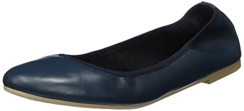 Tamaris Damen 22128 Geschlossene Ballerinas, Blau (Navy Leather), 39 EU