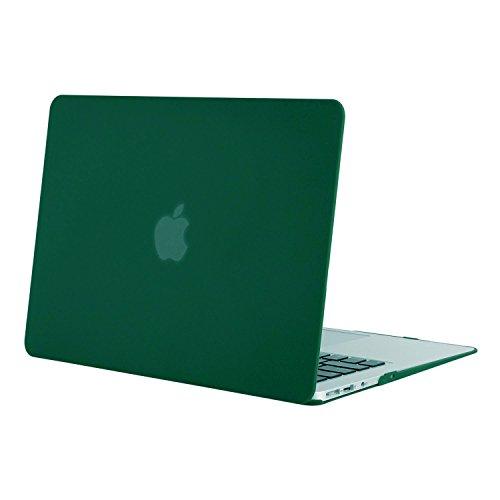 MOSISO ultra sottile in plastica dura Shell Snap On Case Cover per MacBook Air 13 pollici (modelli: A1369 e A1466), verde scuro