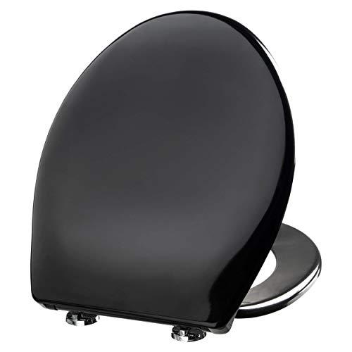 WC Sitz mit Absenkautomatik, WC Deckel Toilettendeckel, Antibakteriell beschichtet, Soft-Close Sitz, Deckel, hochwertige stabile Qualität, Duroplast