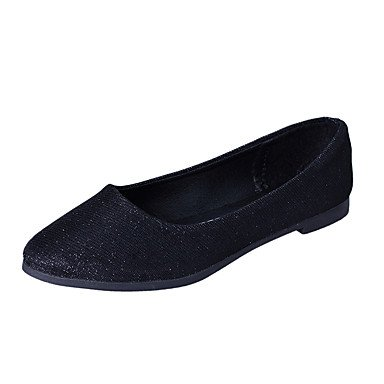 Confortevole ed elegante piatto scarpe donna Appartamenti primavera cadono Comfort PU Casual tacco piatto altri viola nero argento a piedi Purple