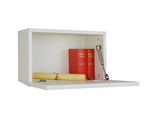 Mobiletto componibile con Anta ribalta Zeus 2 (Bianco), Mobiletto per  Soggiorno o Cucina Made in Italy