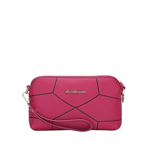 DISSA S827 neuer Stil PU Leder Deman 2018 Mode Schultertaschen handtaschen Henkeltaschen,225×30×130(mm) Rose