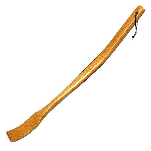 Holz rückenkratzer mit gebogenem griff back scratcher rücken und körper massagegerät für kratzen juckreiz -