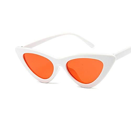 Passionate turkey Leidenschaftliche Truthahn Katzenauge Frauensonnenbrille getönte Farblinse Herren Vintage Sonnenbrille Damenbrille blau Designer Sonnenbrille, 12-weiß rot