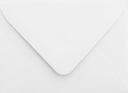 Briefumschläge24Plus 25 Briefumschläge Mini geeignet für Visitenkarten Weiß 6 x 9 cm Verschluss-Technik: feuchtklebend, Grammatur 120 g/m² (Visitenkarten-umschlag)