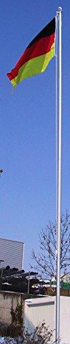 normani Fahnenmast ALU, Bodenhülse, Seilzug, Obere Abdeckung Größe 6.5 Meter