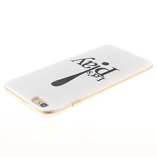 XiaoXiMi Coque iPhone 6/6S Etui en Silicone Caoutchouc Gel pour iPhone 6/6S Soft TPU Case Cover Bumper Housse Souple de Protection Coque Mince Léger Etui Flexible Lisse Couverture Anti Rayure Anti Cho Let's Play