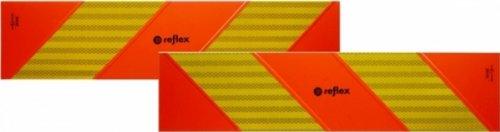 Preisvergleich Produktbild Heckwarntafel für Zugmaschinen, auf Aluplatte, ECE 70.01, 565 mm x 130 mm, 2 Stück