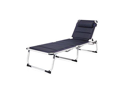 Campart Travel BE-0655 Sonnenliege – Maschenbezug – faltbares Reisebett