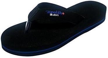 Aditi Anti Foot Pain Healthcare Mcr Rubber Slipper For Women - Black