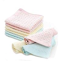 B.H Women's Soft Cotton Handkerchief Face Towel (28x28 cm, Multicolour) - Pack of 6