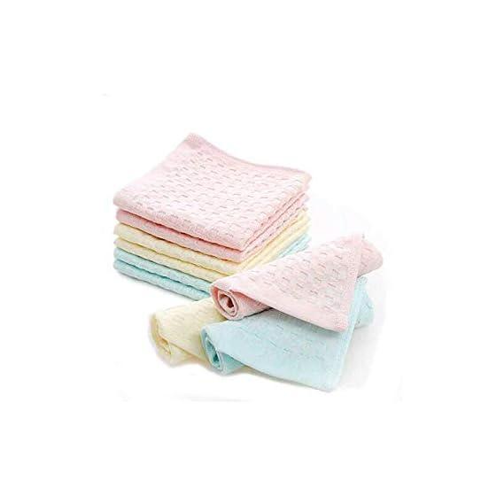 B.H Women`s 3 Colours Cotton Handkerchief face Towel Super Soft, 28x28 cms - Pack of 6