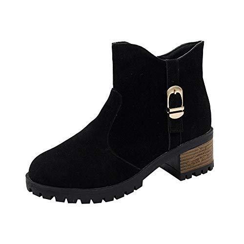 Stiefel Damen Vintage, Sonnena Freizeitschuhe Frauen Herbst Wildleder Stiefeletten Schuhe Boots High Heels Zipper Stiefel Outdoor Party Booties Casual Martin Stiefel Freizeitschuhe