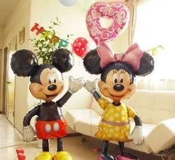 Uniqus Riesiger Mickey Minnie Maus-Luftballon aus Folie, 112 cm