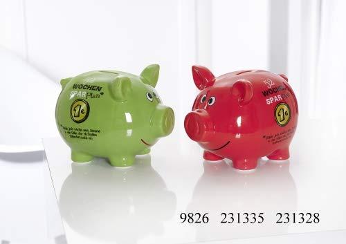 Ritzenhoff & Breker Sparschwein Größe Sparschwein 16 cm Grün Sparplan