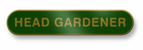 Head Gardener Enamel Bar Badge -...