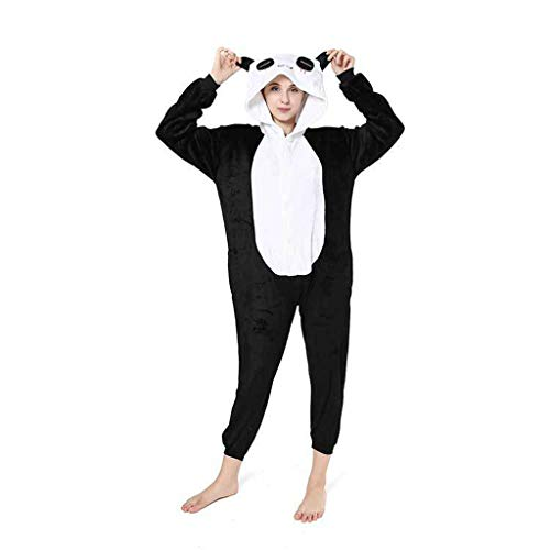 Pyjama Tieroutfit Tierkostüme Schlafanzug Tier OneSize Sleepsuit Mit Kapuze Erwachsene Unisex Jumpsuits Overall Damen Herren Pyjama (S M L XL),M
