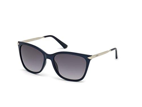 Guess Unisex-Erwachsene GU7483 90B 56 Sonnenbrille, Blau (Blu Luc/Fumo Grad)