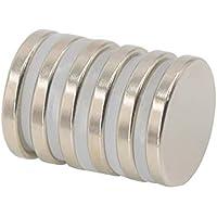 Magnetpro Imán de disco de neodimio 6 kg de fuerza 25 mm de diámetro x 3,5 mm de espesor (paquete de 6)
