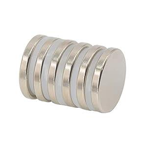 Magnetpro Neodym Scheibe Magnete 25 mm Durchmesser x 3,5 mm Dick 6 kg Pull (6 Stück)