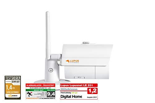 LUPUS WLAN IP Kamera für draußen, SD Slot, 92°, Nachtsicht, Bewegungserkennung, iOS & Android APP, Integrierbar in die LUPUSEC Smarthome Alarmanlage, inkl. Verwaltungssoftware