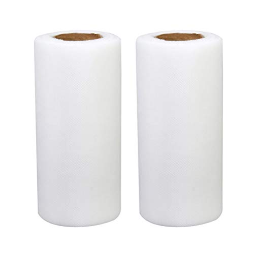 6 Zoll weißen großen Netz Tüll Stoff durch den Bolzen - Hochzeitsfest Bogen Bankett Handwerk bevorzugen Dekoration ()