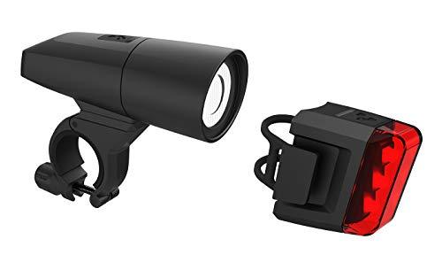 Cube Pro 18 Fahrrad Beleuchtungsset Schwarz - Fahrrad Cube