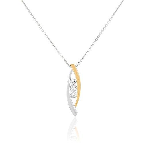 ... HISTOIRE D OR - Collier Or et Diamant - Femme - Or 2 couleurs 375 ... b4b63b56e9c1