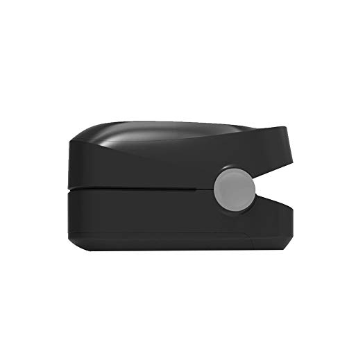 Blutsauerstoffmessgerät Finger-Impuls-Sauerstoffmessgerät bezieht sich auf die Pulse Meter Herzfrequenzmesser Finger Clip Puls Sauerstoffmessgerät ohne Batterie 1pc Schwarz -