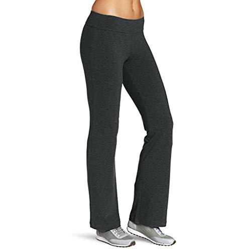 Frauen Bootleg Yoga Hose Einfarbige Elastische, Enge, Hüfthohe Taille Und Schnell Trocknende Laufhose Yebutt Bauch HüFte Abnehmen