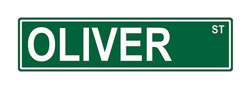 Promini Oliver St. Street Sign Funny Witz Humor Neuheit Metall Aluminium Schild 45,7x 10,2cm