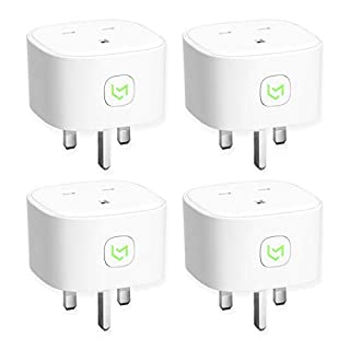 Meross Smart WiFi Plug with Energy Monitor Compatible with Alexa Google Home and IFTTT Safety Guarantee (4 Pack)