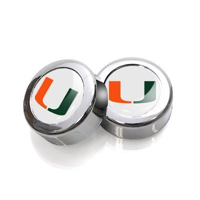 University of Miami License Plate, Frame Chrome Screw Covers (Usa Kennzeichen License Plate Frame)