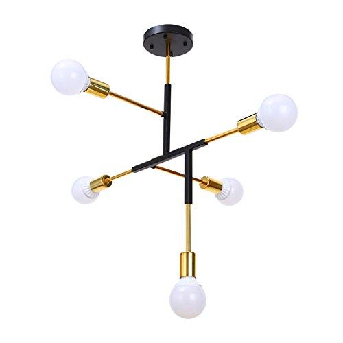 $illuminazione lampadari nordici, fagioli magici postmoderni art restaurant glass ball rami di albero candelabro di soggiorno molecolare luci interne ( colore : nero )