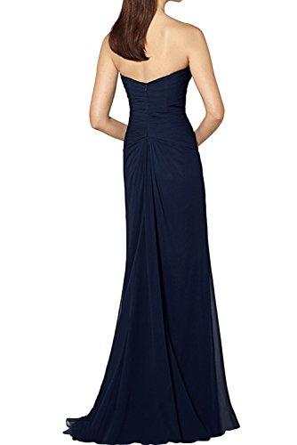 Ivydressing Elegant Navy Damen Spitze Chiffon Brautmutterkleider Lang Abendkleider Promkleider mit Jacke Schokolade