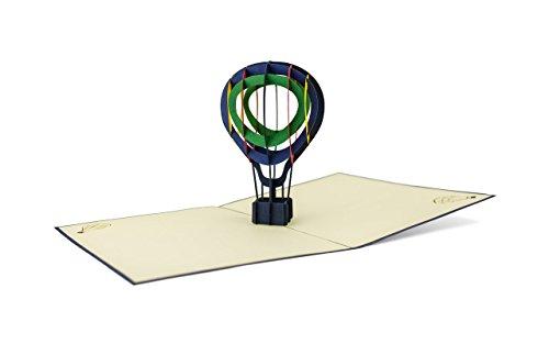 DIESE-KLAPPKARTEN® HOBBY - 3D Pop-Up Karte | Verschiedene Motive | Laserschnitt | Handgefertigt | Einladung | Geburtstag | Taufe | Glückwunschkarte | Gutschein | Jubiläum | Grußkarte | Dankeskarte | Danksagung, Diese-Klappkarten:H12 / Ballon